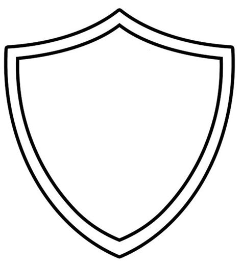 Shield Template To Print by Template Printable Ctr Shield Coloring Page