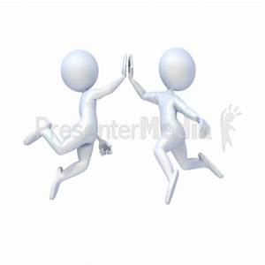 Team High Five Clipart