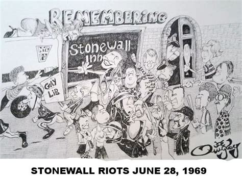 The Stonewall Riots Political Cartoon Which Commemorates