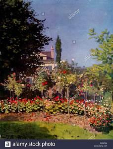 Flowering Garden at Sainte-Adresse - by Claude Monet, 1866 ...