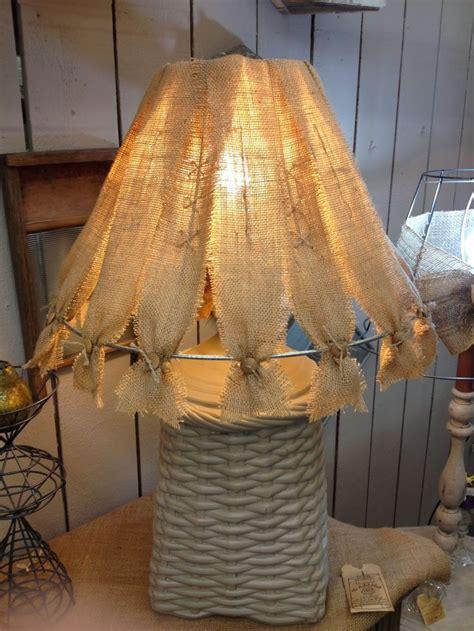 burlap lampshade   burlap lampshade rustic lamp