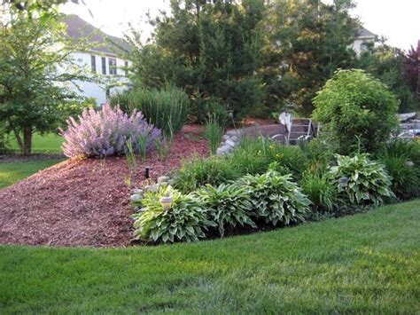 backyard berm doit yourself ideas for landscaping with ornamental grasses must see