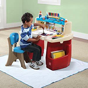 amazon com step2 deluxe art master desk toys games