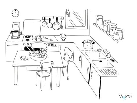 dessin pour cuisine coloriage cuisine de ma mamie momes