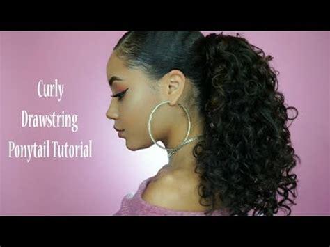curly drawstring ponytail youtube