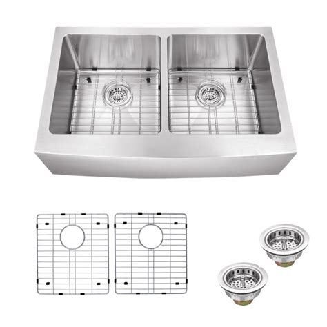 schon kitchen sinks schon all in one apron front stainless steel 33 in
