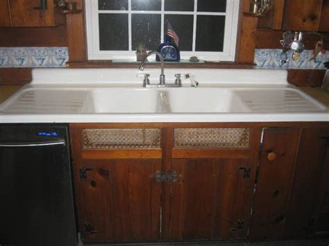 porcelain kitchen sink with drainboard 1948 vintage standard sanitary basin 7541