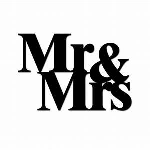 Deco inscription - Mr and Mrs