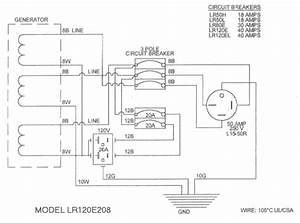 Lr120e208 Lr120e480 Voltmaster Portable Generator 12000w Continuous  15000w Surge 120  208v 3