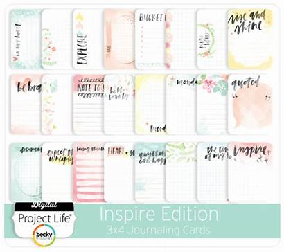 Cards Journaling Inspire Edition 3x4 Digitalprojectlife