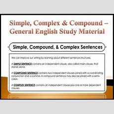 Simple, Complex & Compound  General English Study Material  Exams Daily