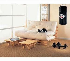 canape futon canape lit futon convertible 1 ou 2 places With tapis de gym avec canape futon convertible 2 places