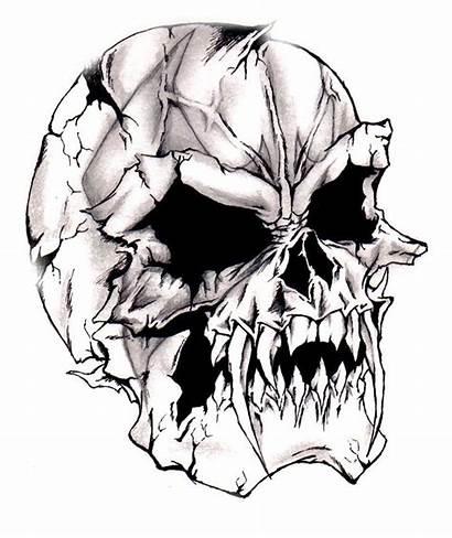 Clipart Skulls Library Skull Demon Evil Smashed