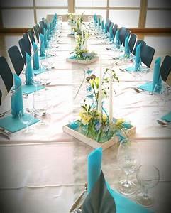 Tischdeko Blau Weiß : tischdeko in t rkis wei ideen f r hochzeitsdeko pinterest t rkis tischdeko und kommunion ~ Markanthonyermac.com Haus und Dekorationen