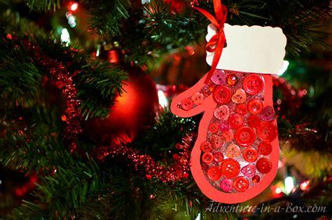mitten kid  christmas ornament
