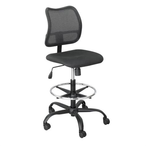 extended height mesh drafting chair in black 3395bl