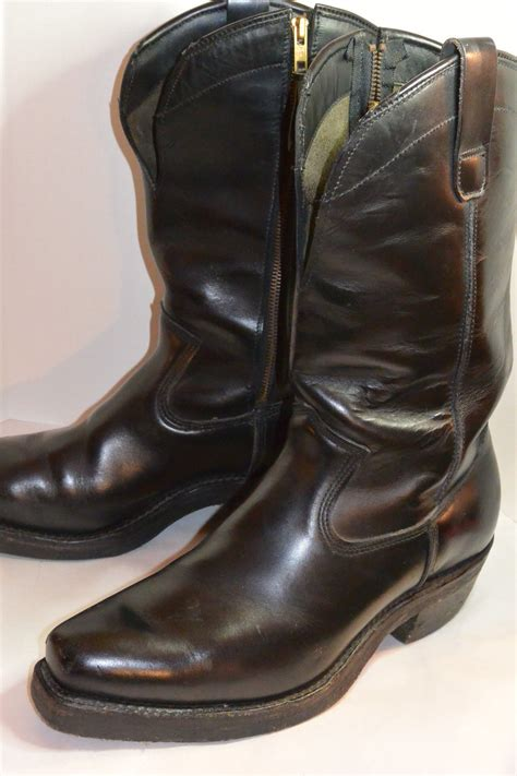 Vintage Leather Motorcycle Boots Classic Vintage Apparel