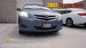 Toyota Yaris Headlight Bulb Led Replacement Upgrade