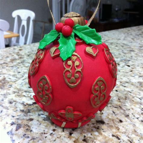 christmas ornament cake my cakes pinterest