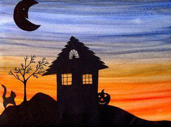 halloween silhouette artwork halloween art projects