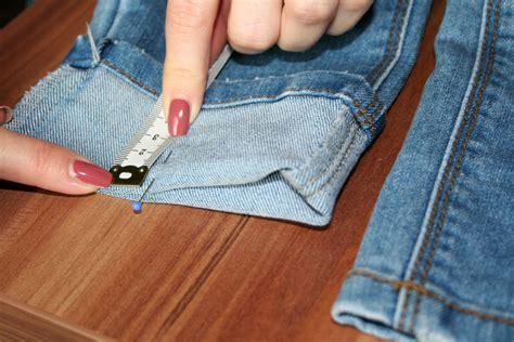 Hose Kürzen Jeans Mit Der Nähmaschine Selbst