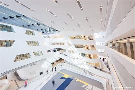 zaha hadid library  learning center wu campus vienna
