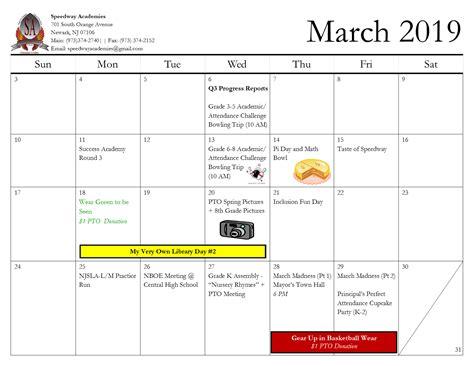 calendar speedway academies