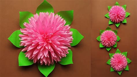 Heart of flowers that can decorate your wall or any other home interiors. How to Make Beautiful Paper Flower for Home Decor | Paper ...