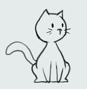 learn   draw cartoon cute kitty cat step  step