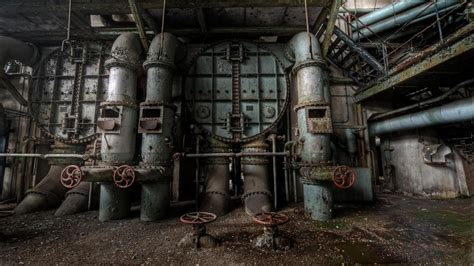 cityscapes europe machinery abandoned factory wallpaper