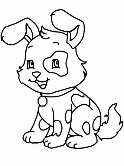 Coloring Dog Pages Cartoon Template Templates Colouring