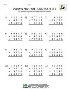 4th Grade Math Addition Worksheets