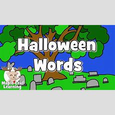 Learn Halloween Vocabulary #2  Talking Flashcards Youtube