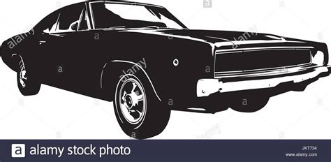 Classic American Car Stock Vector Images