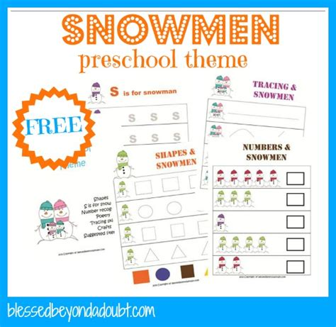 snowman activities for preschool snowman themed printables crafts and ideas 242