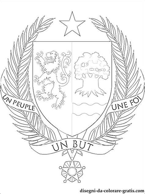 stemma del senegal da colorare disegni da colorare gratis
