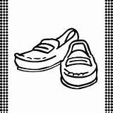 Loafers Printable Template Flash Card Shoe Shoes Templates Sketchite Loafer sketch template