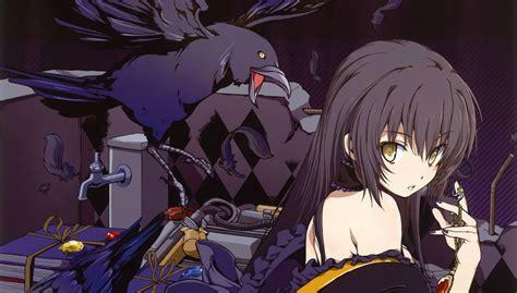 Find dark anime wallpapers hd for desktop computer. birds, Anime, Girls, Black, Hair, Scans, Aka, Ringo ...