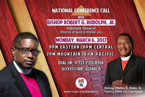 national conference call   adjutant general cogic