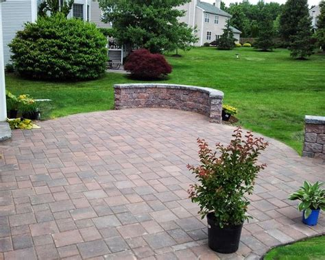 pavers patio and sitting walls pavers projects