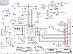 Schematic Diagram  Mixed Signal Oscilloscope Xprotolab On