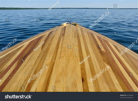 Wooden Boat Bow by Wood Bow Deck Wooden Boat Stock Photo 81335644