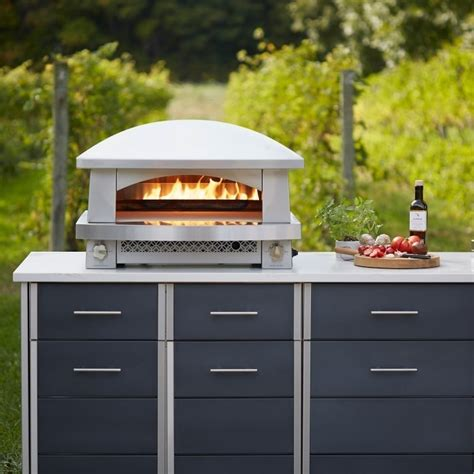 afpoclpblks kalamazoo artisan fire pizza oven lp  stainless steel  wide