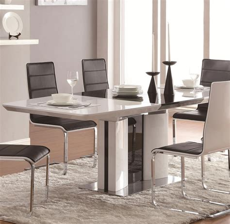 black and white dinette modern dining table co41 modern dining