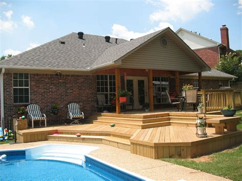 patio or deck backyard deck ideas to increase your house selling