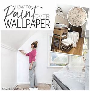 How To Paint Over Wallpaper The Quick Dirty Way