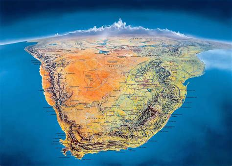 Detailed Map Of South Africa, Its Provinces And Its Major