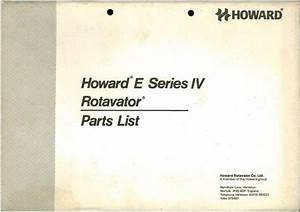Howard Rotavator E Series Iv