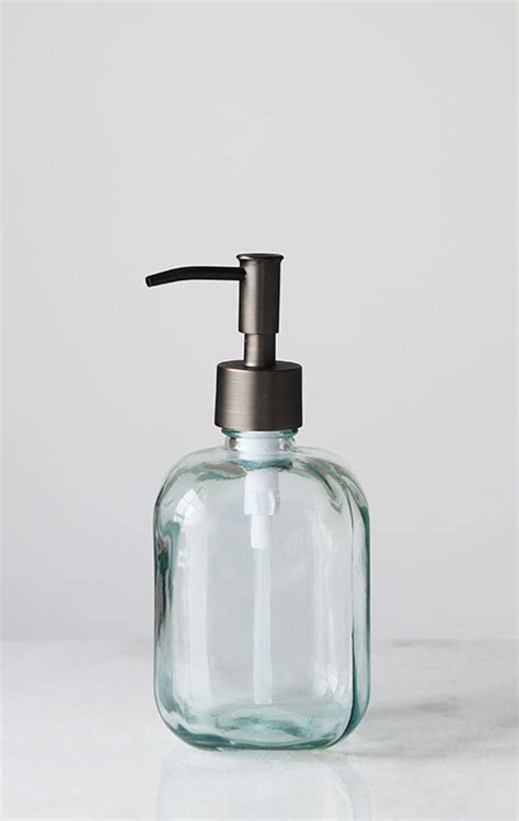 3311 square soap dispenser soap dispensers cubo square recycled glass soap