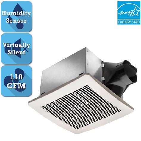 delta breez signature 110 cfm ceiling humidity sensing bathroom exhaust fan energy